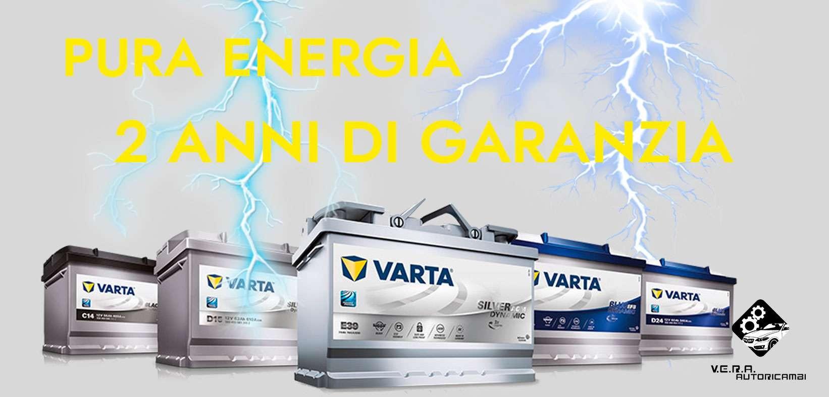Garanzia di due anni sulle batterie VARTA!
